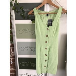 NWT cool lime green button down sundress